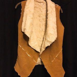 Tan Shearling Vest